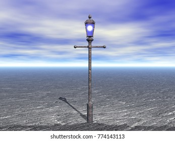 streetlamp 3D rendering