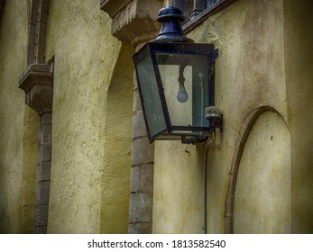 Streetlamp in courtyard at Ely Cathedral