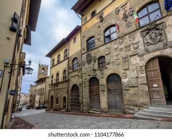 Streets in Arezzo, Tuscany Italy