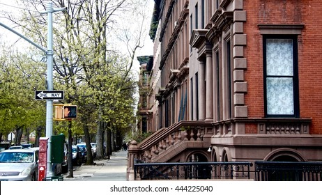 Streets of Brooklyn. A row of Brownstone's in Brooklyn. New York. USA
