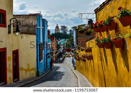 Streets and Buildings of Atlixco Mexico