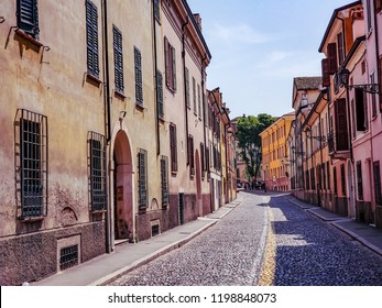Streets and Buildings of Mantua Italy