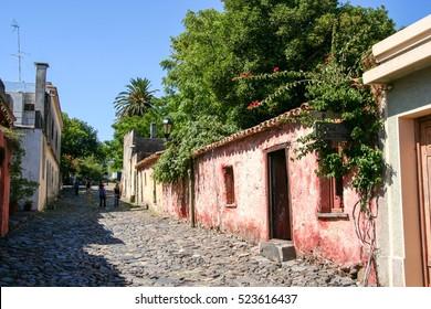 The streets of Colonia del Sacramento, a city in southwestern Uruguay