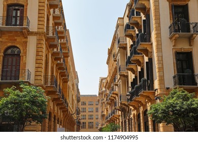 The streets of downtown Beirut, Lebanon
