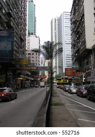 Streets of Hong Kong During the Day