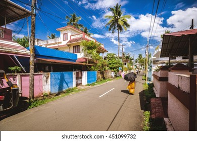 The streets of Kochi, Kerala, India.