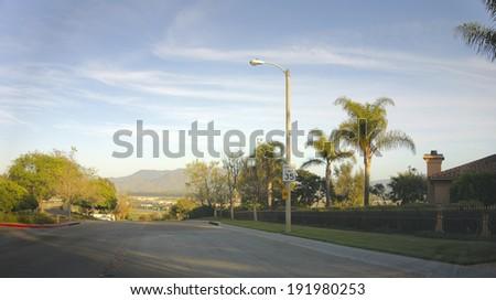 Streets Mountains City Camarillo Ventura County Stock Photo Edit