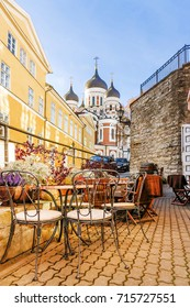 Streets of old Tallinn, Estonia