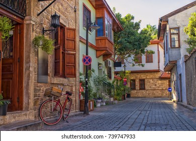 Streets of old town Kaleici - Antalya, Turkey.