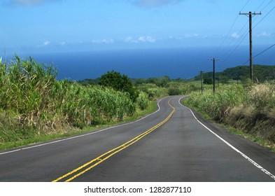 Streets on Big Island, Hawaii
