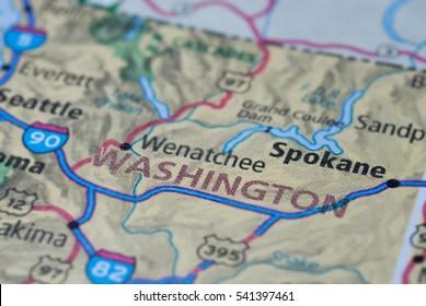 Streets on the map around Washington