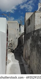 In the streets of Santorini