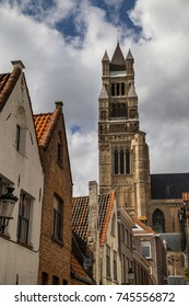 Streets and squares of Bruges, Belgium