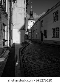 Streets of Tallinn. Estonia.