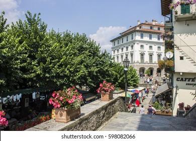 STRESA, ITALY - August 4, 2016: Isola Bella (lit. beautiful island), one of the beautiful Borromean Islands of Lago Maggiore in north Italy.