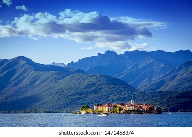 STRESA, ITALY, MAY 25, 2019 : Borromean islands, lake maggiore, may 25, 2019, in Stresa, italy