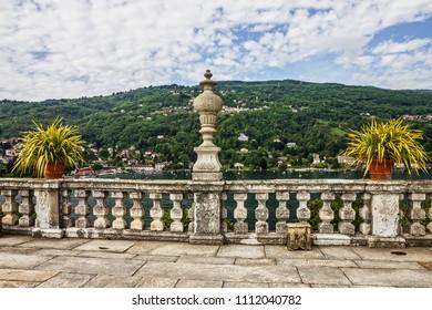 Stresa lake view, Italy. Lago Maggiore,  Isola Bella, view from Borromeo palace, Lombardy