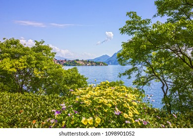 Stresa lake view, Lago Maggiore, Italy, Lombardy