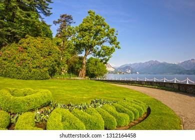 Stresa, Villa Pallavicino park, botanical garden, Maggiore lake, Lombardy, Italy