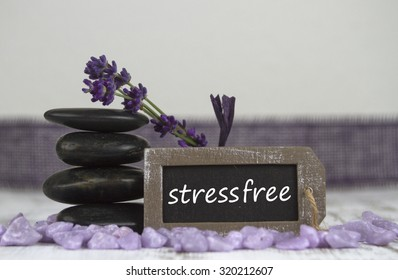 stress free with hot stones and lavender