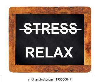 stress relax on a blackboard - chalk