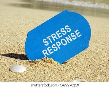 Stress response system inscription on the plank.