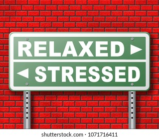 stress therapy and management helps in relaxation reduce tension and relief negativity become relaxed not stressed reduction of negative vibes distressing trough meditation and concentration 3D, illus