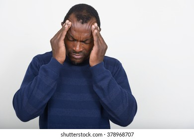 Stressed African man