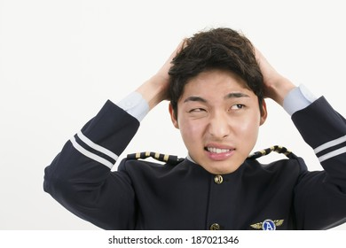 Stressed Asian Airline Pilot