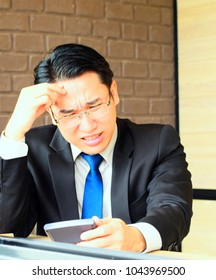Stressed businessman in the office