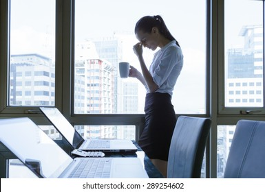 Stressed office worker.
