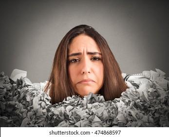 Stressful mountain of paperwork