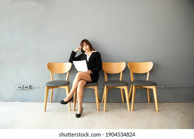 Stressful people waiting for job interview In the state of COVID-19
