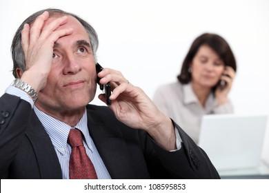 Stressful telephone call