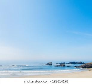 A stretch of beach along the California coastline