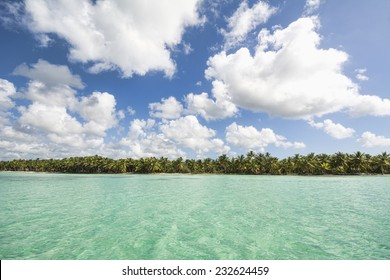 A stretch of beautiful unspoilt Caribbean Coastline