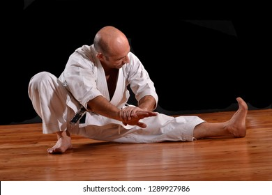 Stretch exercise martial arts professor.