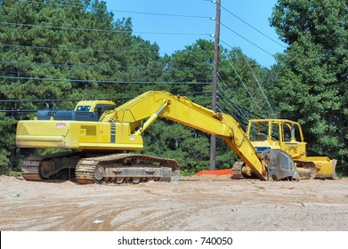 Stretched out Backhoe