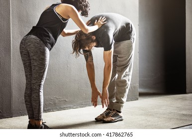 Stretching Exercise Training Sport Healthy Concept