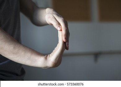 stretching hands