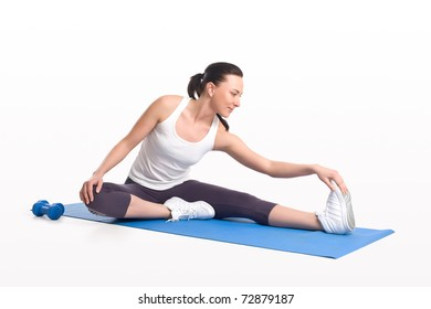 Stretching thin woman