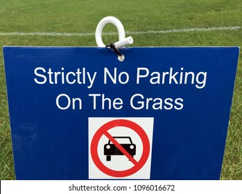 Stricly No Parking On The Grass. Transportation sign