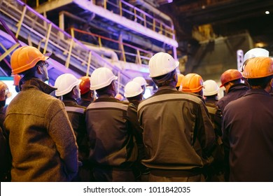 Strike of workers in heavy industry.