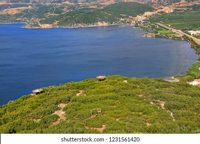 A striking geography Egirdir, the most famous lake in the Lakes Region of Turkey. The high altitude route overlooking the entire lake the color of the lake changes constantly with the afternoon sun.