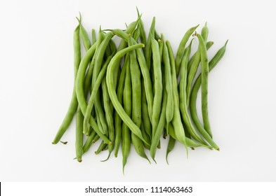 String beans isolated on white background