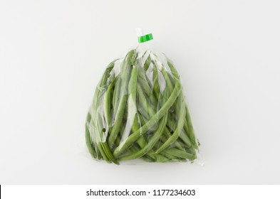 string beans in plastic bag