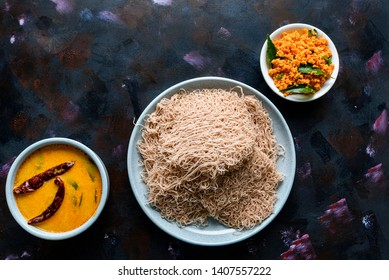 String hoppers, a famous breakfast food in Sri Lanka, India and Singapore. They are made up of rice or wheat flour.