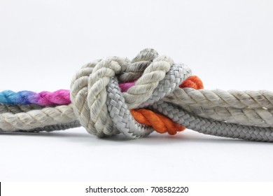 String knotted on a white background.