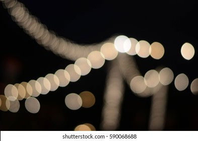 String of lights at a social event