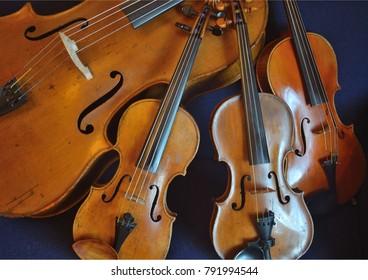 String quartet on a plain background